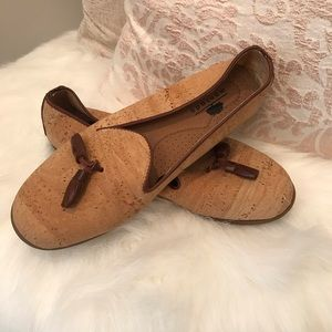 Shoes - Montado Cork and Brown Leather Loafers